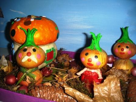 Сказочные персонажи своими руками с овощей и фруктов